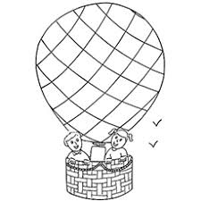 balloon coloring pages air balloon coloring pages free printables