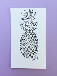 Pineapple Home Decor by Black Ink Pineapple Drawing Home Decor Wall Hanging Fun Tropical