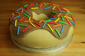 simpsons doughnut birthday cake conlans 10th birthday cake u2026 flickr