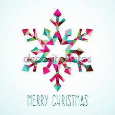 modern geometric triangle christmas winter snowflake u2014 stock