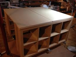 Using 2 Ikea Expedit Bookcases by Ikea Hack Reclaimed Wood Table Used 2 Ikea Expedit Shelves U0026 2