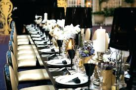 black and white table settings gold black and white table settings black and white table settings