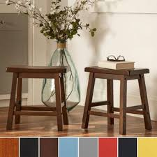 salvador saddle back 18 inch backless stool set of 2 by inspire
