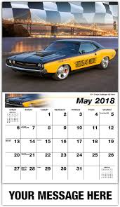 dodge challenger calendar rods cars road warriors 65 business promo calendars