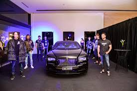 purple rolls royce rolls royce black badge u0026 helo luxury boutique fashion show