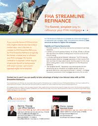Fha Streamline Worksheet by Find Out The Benefits And Eligibility Requirements Of An Fha