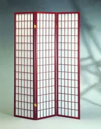 amazon com cherry 3 panels room divider screen with rice paper