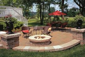 Backyard Fire Pits Designs by Patio With Fire Pit Ideas Home Design