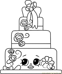 wendy wedding cake shopkins coloring free shopkins coloring