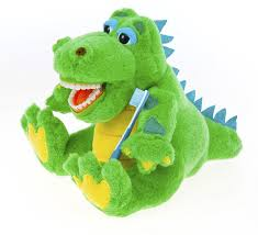 amazon com kids alligator educational plush u0026 toothbrush baby