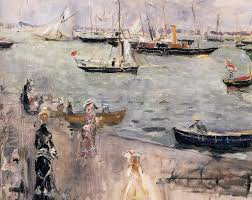 harbor scene isle wight 1875 pc isle wight and berthe morisot