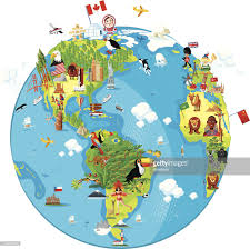 World Map Cartoon by Cartoon Map Of World Vector Art Getty Images