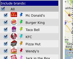 map of restaurants near me fast food map finds the nearest fast food chain
