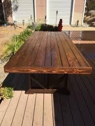 diy furniture restoration hardware inspired outdoor dining table