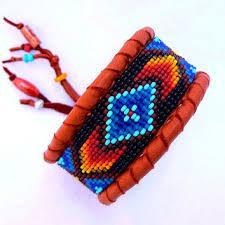 beaded leather cuff bracelet images Best tribal beaded cuff bracelets products on wanelo jpg
