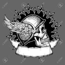 retro motorcycle vector t shirt design biker skull emblem biker