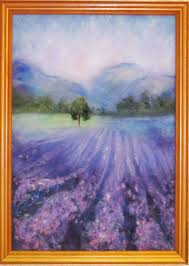 buy video tutorial for the painting of wool lavender fields on