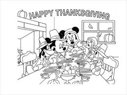 best mickey thanksgiving coloring page on car wash mickey mouse
