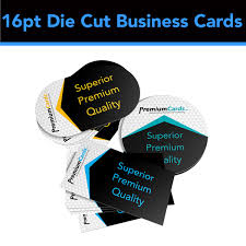 business card die cutter 16pt die cut business cards premiumcards net custom business cards