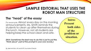 sample of editorial essay warm up reminders today you ll be taking your common assessment 6 sample editorial