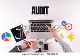 Desk Audit Vector Flat Top View Business Workplace Stock Vector 450413572