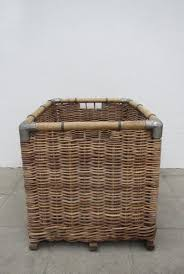 decorative laundry hampers large wicker laundry basket 1950s for sale at pamono