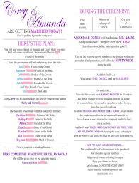 template for wedding ceremony program wedding ceremony program template best business template