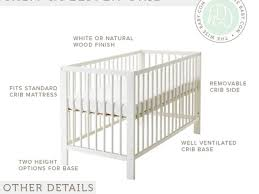 Baby Crib Mattress Size 40 Baby Mattress Sizes Classique Cot 60 X 120 With Drawer In