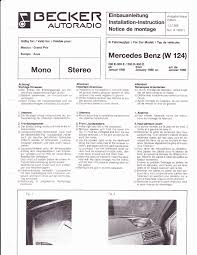 1985 mercedes benz 200d 300d w124 audio owners manual
