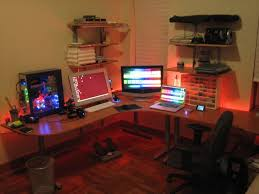 Gaming Desk Setup Ideas 83 Best Computer Desk Images On Pinterest Computer Desks Office
