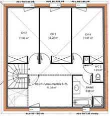 plan etage 4 chambres plan maison 100m2 4 chambres etage