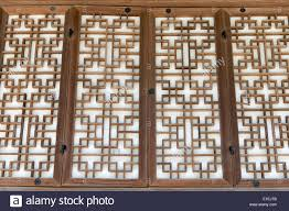 background pattern of a traditional wooden paper door in korea