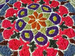 rangoli decoration decor rangoli decoration with flowers best home design creative