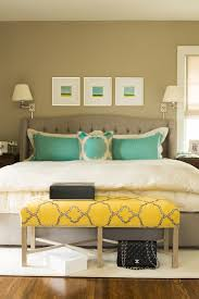 gray tufted bed transitional bedroom ralph lauren hopsack