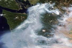 Canada Wildfire Satellite by Smoke Fills Seattle Sky As Okanogan Fire Nears Record Size Kuow