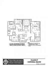 Bedroom Floorplan by Village At Centennial Square Sf State Housing