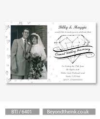 personalised diamond 60th wedding anniversary photo invitation
