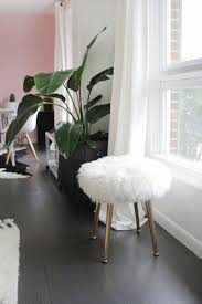 Home Design Store Make A Furry Stool With Gold Legs In Minutes A Beautiful Mess