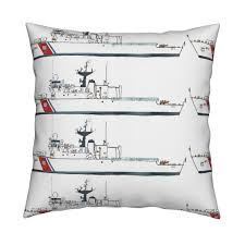 coast guard cutter escanaba fabric bowsprite spoonflower