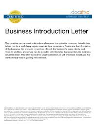 Formal Letter Word Template by Business Introduction Letter Pdf Images Examples Writing Letter