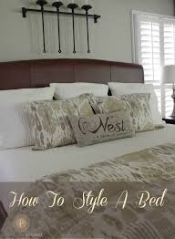 how to place throw pillows on a bed 3 tips for how to style a bed domestic charm