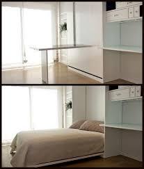 Desk Wall Bed Combo Nine Red Spotlight Murphy Bed U0026 Desk