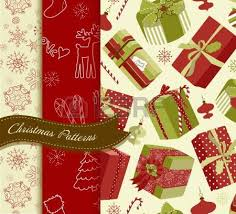 retro christmas gift boxes seamless pattern royalty free cliparts