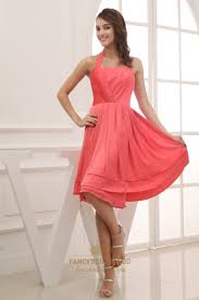 knee length military ball dress a line halter chiffon bridesmaid