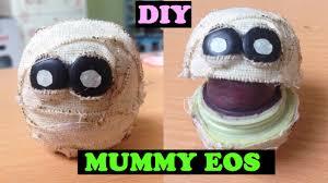 mummy crafts for halloween diy mummy eos how to make cute halloween mummy eos lip balm