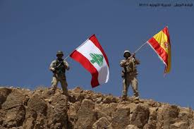 Old Lebanese Flag Lebanese Army Raises Spanish Flag On Captured Isis Hilltop Paying