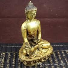 Statue For Home Decoration 2018 Tibetan Brass Buddhism Bodhisattva Sakyamuni Buddha Statue