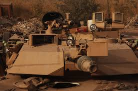 file m1a1 abrams tank equipped with tank urban survivability kit