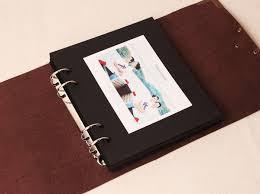 photo album inserts for 3 ring binder leather lock wedding guest book black scrapbook album gift set