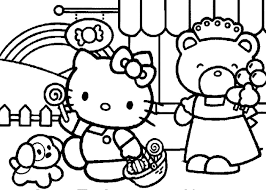 free coloring pages of hello kitty in the bath 3037